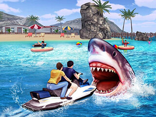 Angry Shark 3D Simulator Game скриншот 1