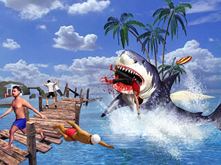 Angry Shark 3D Simulator Game скриншот 2