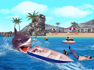 Angry Shark 3D Simulator Game скриншот 3