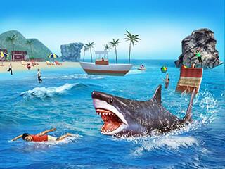 Angry Shark 3D Simulator Game скриншот 4