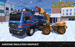 Loader and Dump Truck Winter SIM скриншот 1