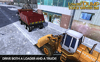 Loader and Dump Truck Winter SIM скриншот 2