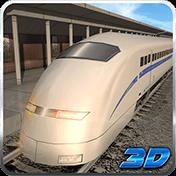 Bullet Train Subway Station 3D