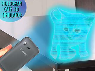 Cats 3D Hologram Simulator скриншот 3