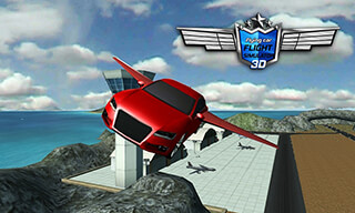 Flying Car Flight Simulator 3D скриншот 1