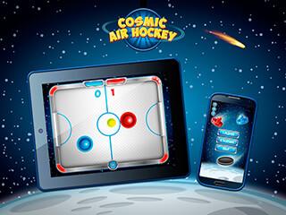 Cosmic Air Hockey скриншот 2