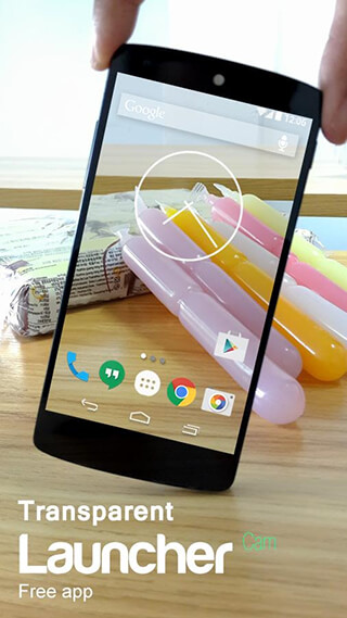 Transparent Screen Launcher скриншот 1
