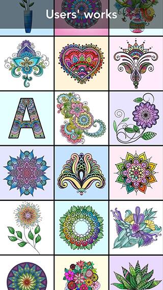 Mandala Coloring Book скриншот 1