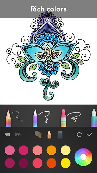 Mandala Coloring Book скриншот 3