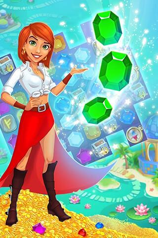 Treasure Hunters: Match-3 Gems скриншот 4
