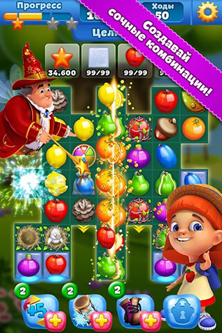 Fruit Land Match 3 for VK скриншот 1