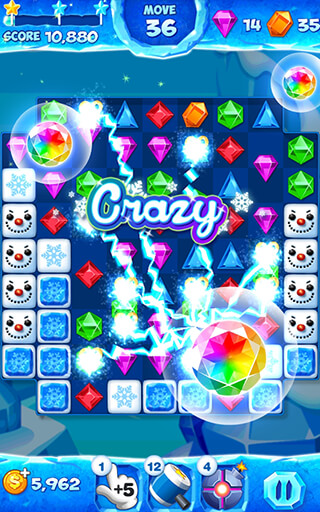 Jewel Pop Mania: Match 3 Puzzle скриншот 2