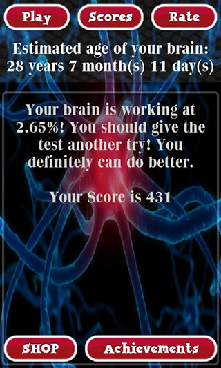 Brain Age Test Free скриншот 3