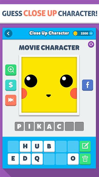 Close Up Character: Pic Quiz скриншот 1