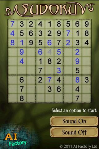 Sudoku Free скриншот 4