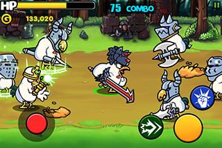 Chicken Revolution:  Warrior скриншот 1