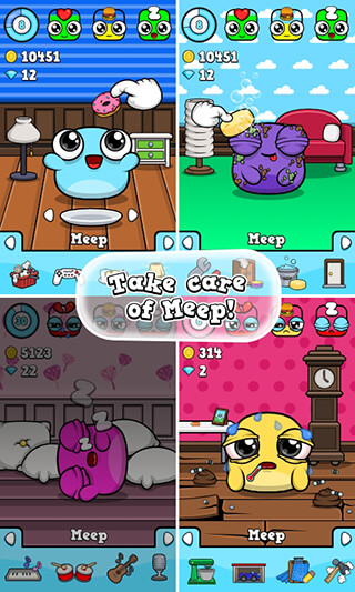 Meep: Virtual Pet Game скриншот 2