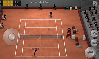 Stickman Tennis скриншот 1