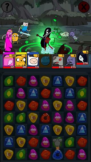 Adventure Time Puzzle Quest скриншот 2