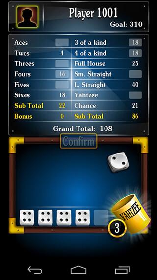 Yatzy Dice Game скриншот 2