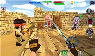 Gun Shoot War Q скриншот 1