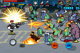 Chicken Warrior: Zombie Hunter скриншот 3