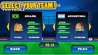 Mini Football: Head Soccer Game скриншот 3