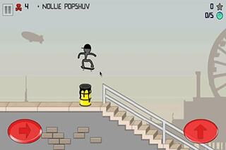 Stickman Skater скриншот 2