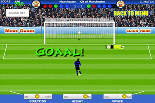 Penalty Shootout Soccer Game скриншот 1