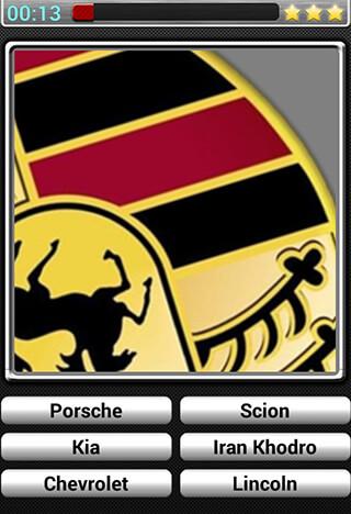 Cars Logos Quiz HD скриншот 3