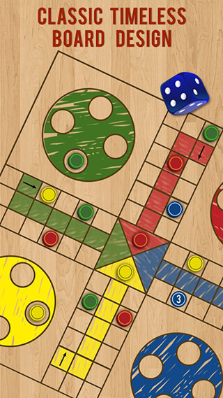 Ludo Parchis Classic Woodboard скриншот 3
