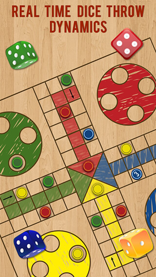 Ludo Parchis Classic Woodboard скриншот 4