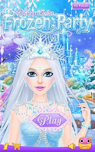 Princess Salon: Frozen Party скриншот 1