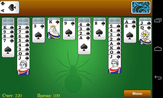 Classic Spider Solitaire скриншот 1