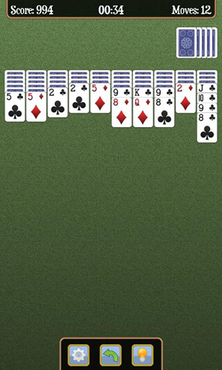 Spider Solitaire скриншот 2