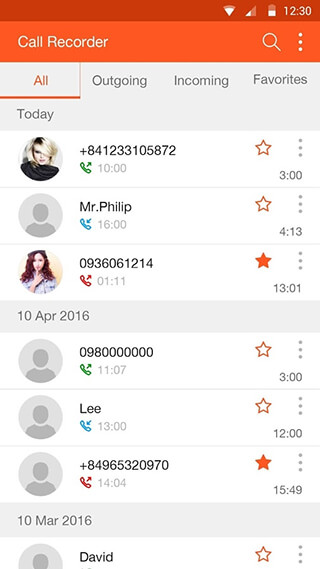 Call Recorder скриншот 2