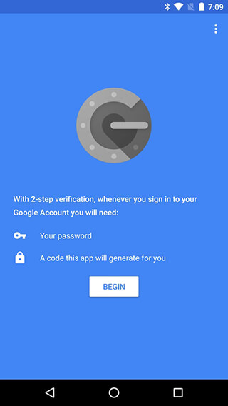 Google Authenticator скриншот 1