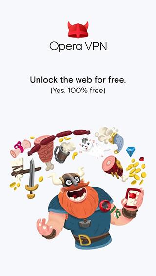 Opera Free VPN: Unlimited VPN скриншот 1