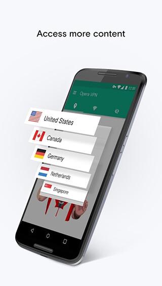Opera Free VPN: Unlimited VPN скриншот 2