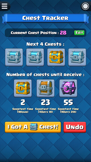 Chest Tracker for Clash Royale скриншот 1
