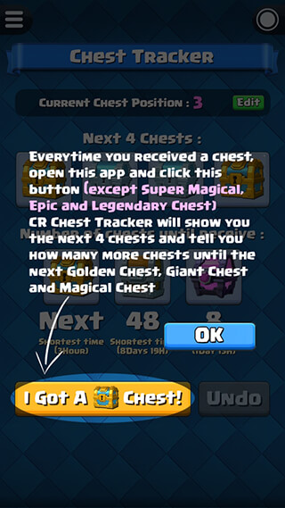 Chest Tracker for Clash Royale скриншот 2