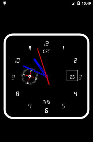 Clock Live Wallpaper скриншот 2