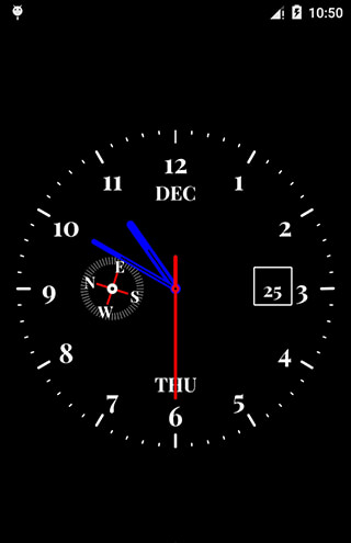 Clock Live Wallpaper скриншот 3
