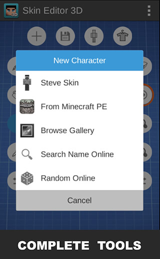 Skin Editor 3D for Minecraft скриншот 3