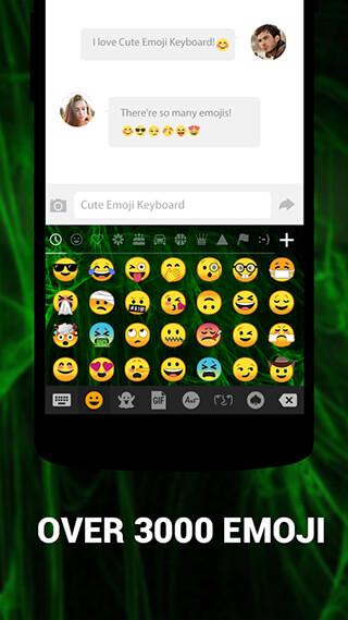 Emoji Keyboard Cute Emoticons: Theme, GIF, Emoji скриншот 1
