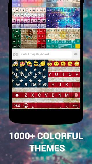 Emoji Keyboard Cute Emoticons: Theme, GIF, Emoji скриншот 2