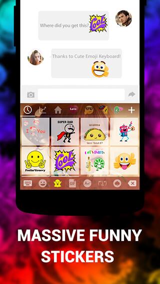 Emoji Keyboard Cute Emoticons: Theme, GIF, Emoji скриншот 4