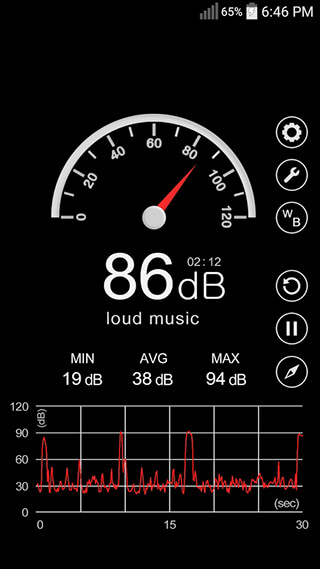 Sound Meter скриншот 2
