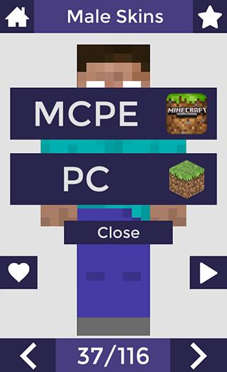 Skins for Minecraft PE скриншот 4