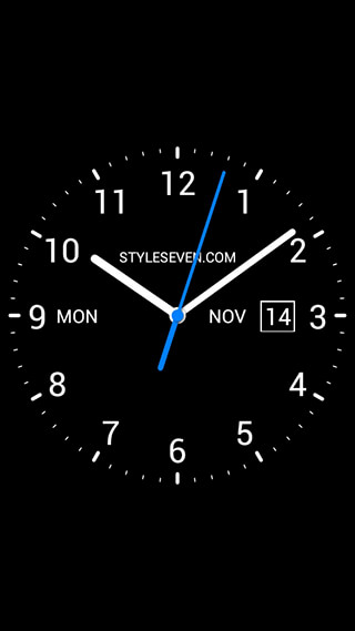 Analog Clock Live Wallpaper-7 скриншот 1
